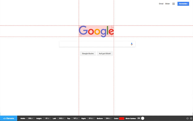Page Ruler - Pixel Dimensions and Positioning for Web Developers and Designers