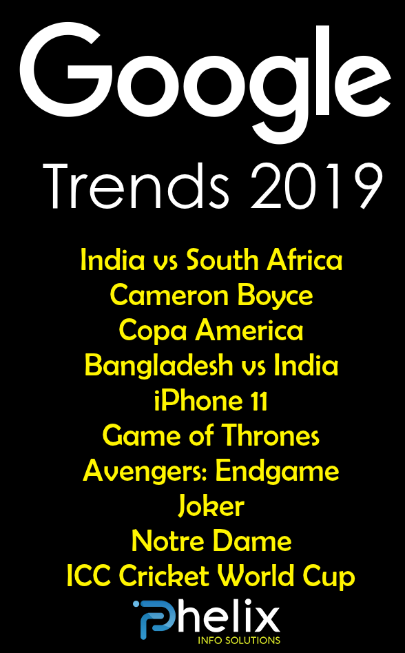 Trending Searches in Google 2019 - Google Trends Updates