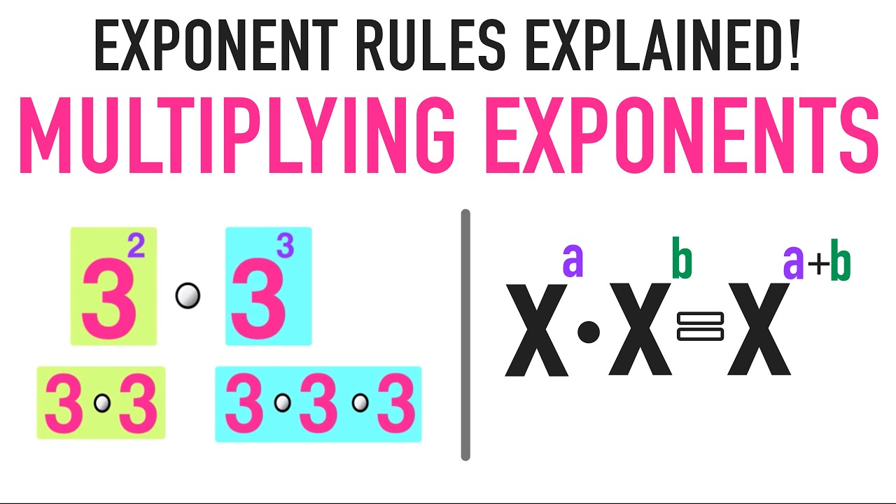 How to Perform Multiplication of Exponents?